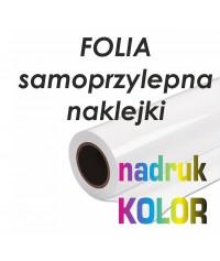 Folia samoprzylepna monomeryczna druk solventowy 1440dpi - MACTAC - Druk Wielkoformatowy