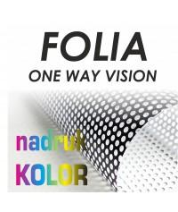 Folia OWV Ona Way Vision druk solventowy 1440dpi - Druk Wielkoformatowy