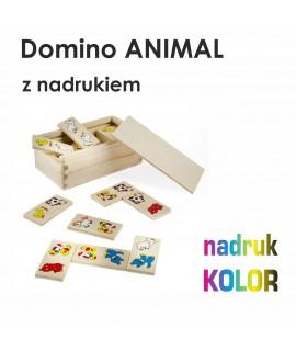 Domino ANIMAL z nadrukiem UV w pełnym kolorze 1szt.