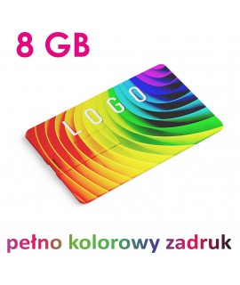 KARTA USB PENDRIVE 8GB z nadrukiem COLOR UV 10szt.