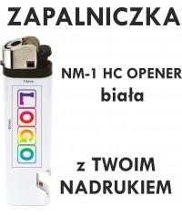 Zapalniczka z NADRUKIEM UV pełny kolor NM-1 HC OPENER biała - NM-1 HC Opener
