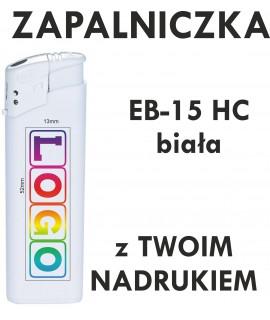 Zapalniczka z NADRUKIEM UV pełny kolor EB-15 HC biała - Strona główna