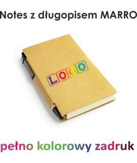 Notes z nadrukiem MARRO + długopis ECO 10szt.
