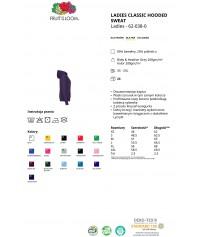 """Bluza z kapturem """"Kangurka"""" damska kolorowa 280g z nadrukiem DTG - 620380 - Fruit of the loom - Bluzy damskie z nadrukiem"""