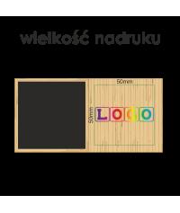 Zegar z przybornikiem na biurko BAMBOO z nadrukiem UV - Zegary elektroniczne