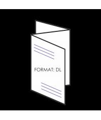 """Ulotka składana DL 6 strony """"C"""" - składane"""