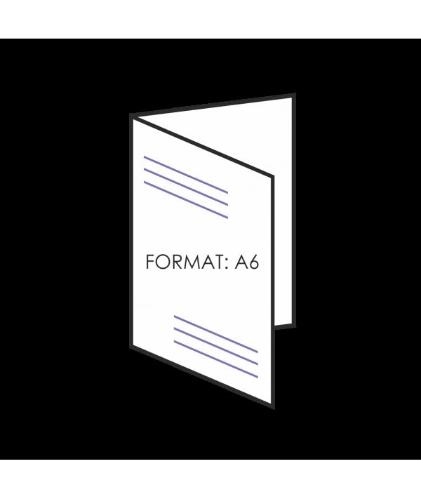 Ulotka składana A6 4 strony - składane