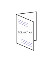 Ulotka składana A4 4 strony - składane